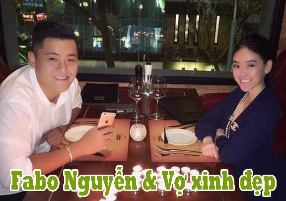 Fabo Nguyễn bên người vợ xinh đẹp