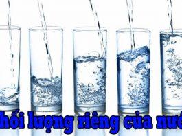 Khái niệm về Nước – chất lỏng